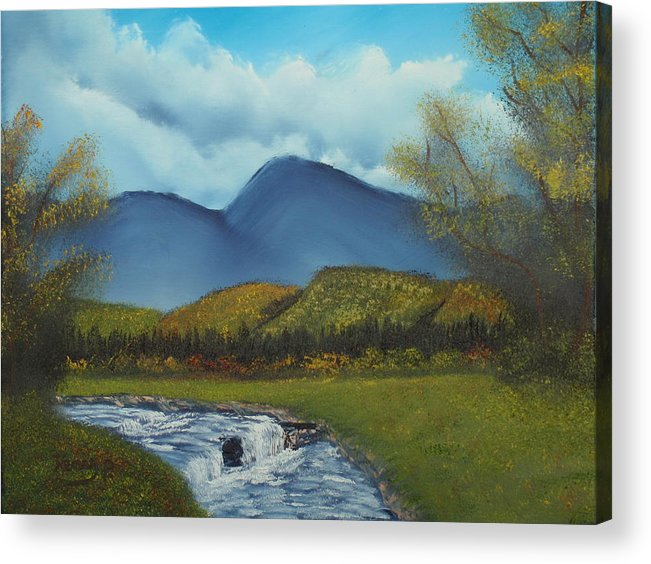 Stream Acrylic Print featuring the painting Peaceful Valley by Henry Parker