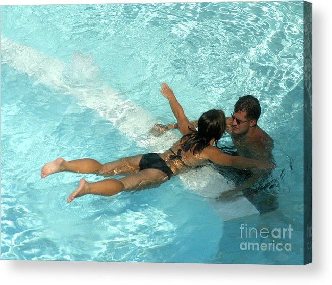 Gary Gingrich Acrylic Print featuring the photograph Pool Couple 9717b by Gary Gingrich Galleries