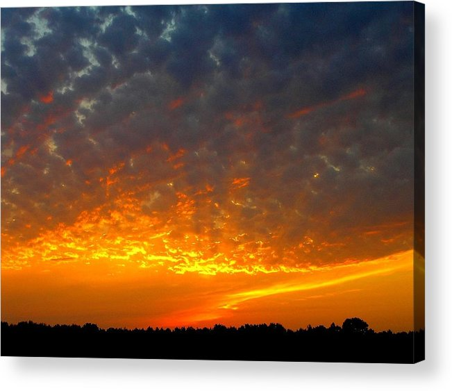 Sunset Acrylic Print featuring the photograph Rays Of Fire by Ronald Goode