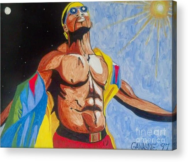 Success.bible Greeting Cards Acrylic Print featuring the painting Reborn by Nathaniel Gawayne Sutton