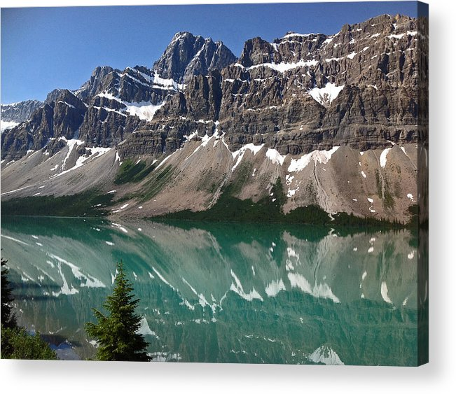 Mountains Acrylic Print featuring the photograph Reflection Falls by JP McKim