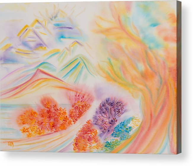 Watercolour Acrylic Print featuring the painting Revelation by Evita Kristapsone