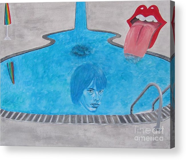 Rolling Stones Acrylic Print featuring the painting Rolling Stones Brian Jones by Jeepee Aero