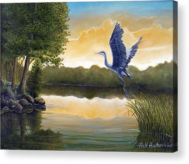 Rick Huotari Acrylic Print featuring the painting Serenity by Rick Huotari