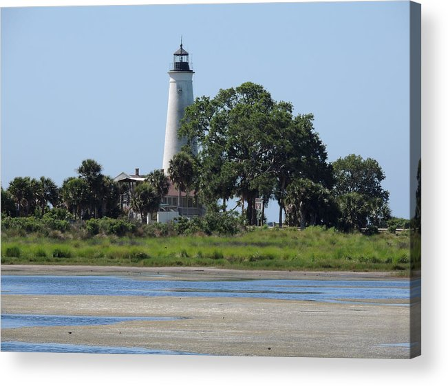 St Mark's Acrylic Print featuring the photograph St Marks Lighthouse by Marilyn Holkham