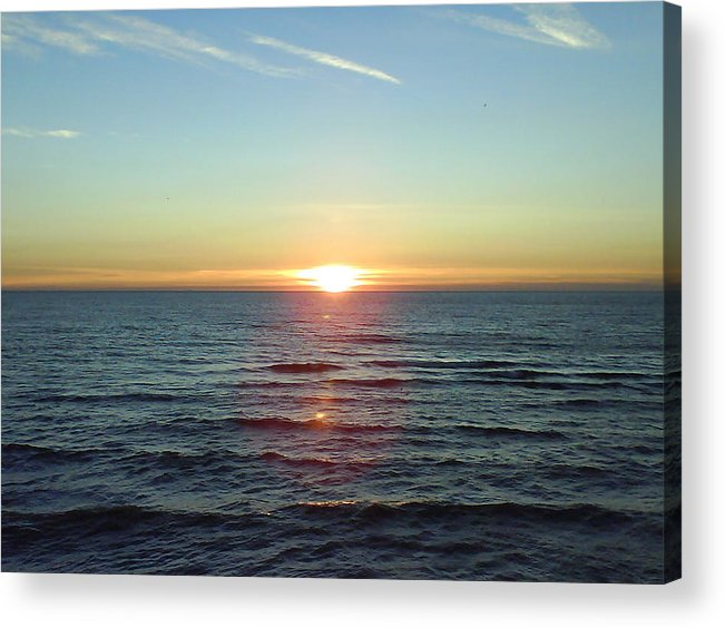 Sunset Over Sea Acrylic Print featuring the photograph Sunset Over Sea by Gordon Auld