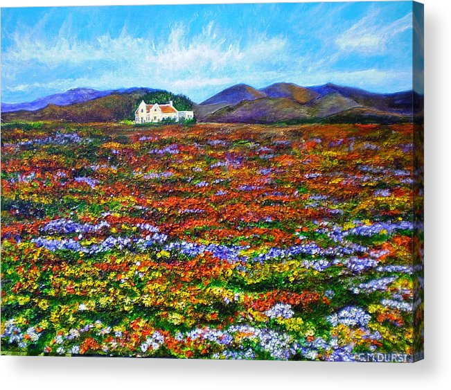 Flower Acrylic Print featuring the painting This Must Be Heaven by Michael Durst