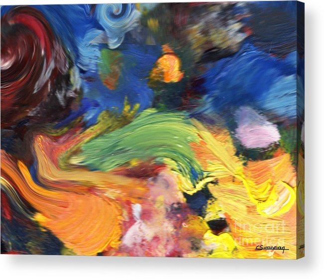 Impressionism Acrylic Print featuring the painting Van Gogh Inpsiration by Christian Simonian
