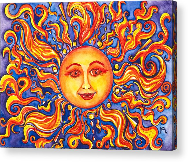 Sun Acrylic Print featuring the painting Warmth by Angela Markwalter