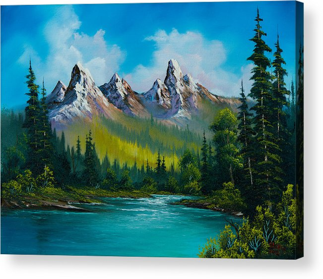 Landscape Acrylic Print featuring the painting Wild Country by C Steele