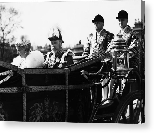 1930s Acrylic Print featuring the photograph British Royal Family. In Coach British by Everett