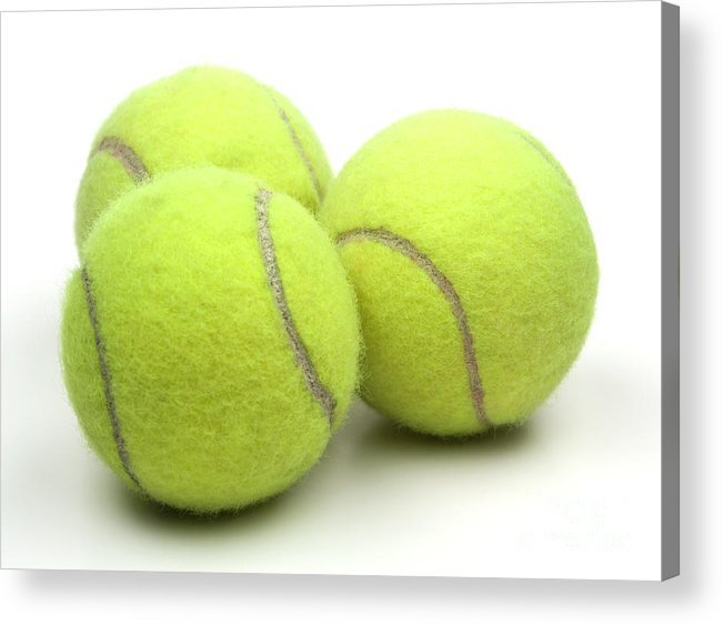 Tennis Ball Acrylic Print featuring the photograph Tennis Balls by Blink Images