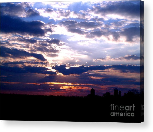 Clouds Sunset Cloudy Sun Sky Weather Evening Moody Light Acrylic Print featuring the photograph A Day To Remember by Vilas Malankar