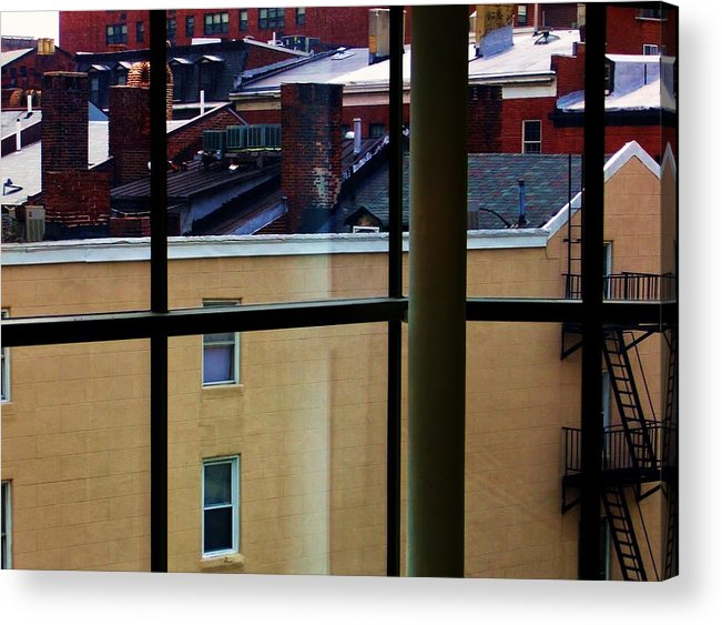 Rooftop Acrylic Print featuring the photograph Baltimore Rooftops by Nancy Mitchell