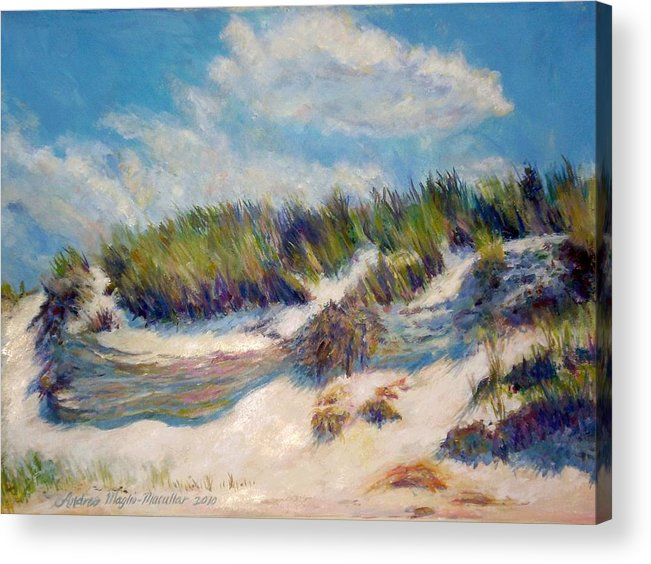 Beach Dunes Acrylic Print featuring the painting Beach Dune by Andrea Maglio-Macullar