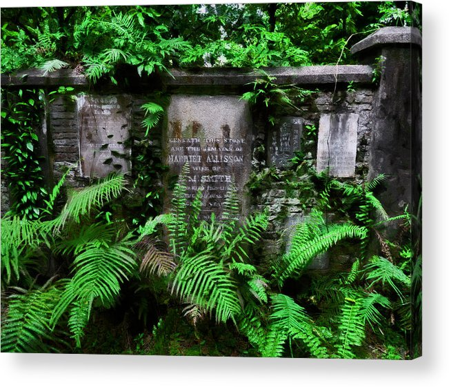 Beneath This Stone Acrylic Print featuring the photograph Beneath This Stone by Steve Taylor