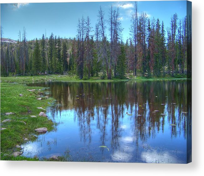 Butterfly Lake Acrylic Print featuring the photograph Butterfly Lake by Shirlene Davis