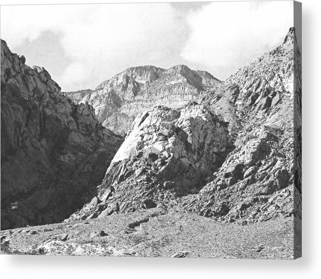 Acrylic Print featuring the photograph Calico Basin by Frank Wilson