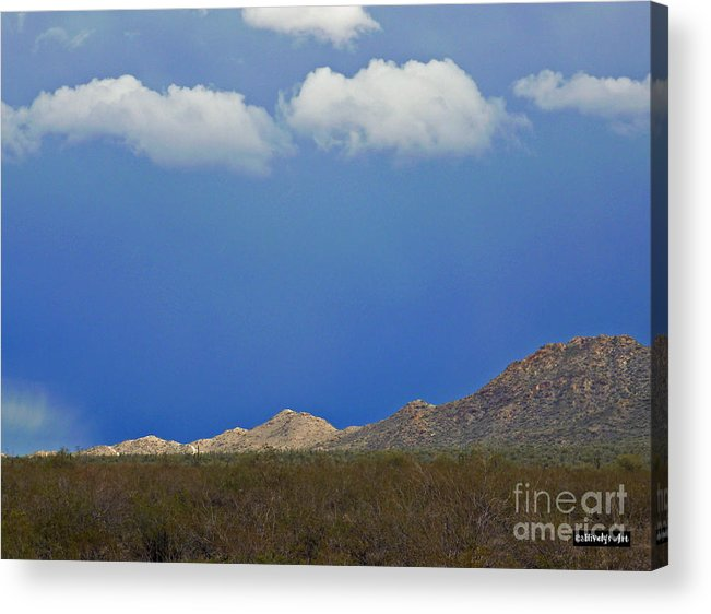 Desert Rain Acrylic Print featuring the photograph Desert Rain by Methune Hively