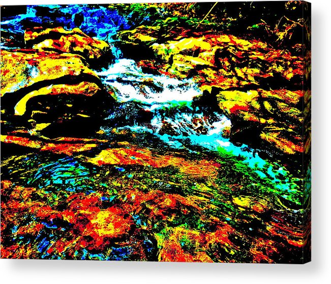 Landscape Acrylic Print featuring the photograph Hyper Childs Brook Z 58 by George Ramos