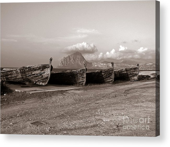 Old Port Of Trapani Acrylic Print featuring the photograph Old Port Of Trapani by Silva Wischeropp