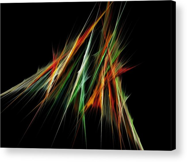 Spike Acrylic Print featuring the digital art Spiked by Sara Raber