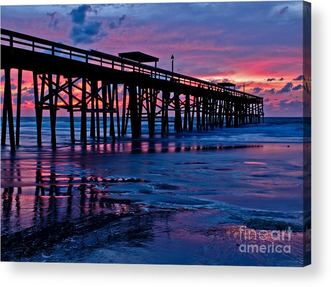Pier Acrylic Print featuring the photograph Sunrise At The Pier 2 by Scott Moore