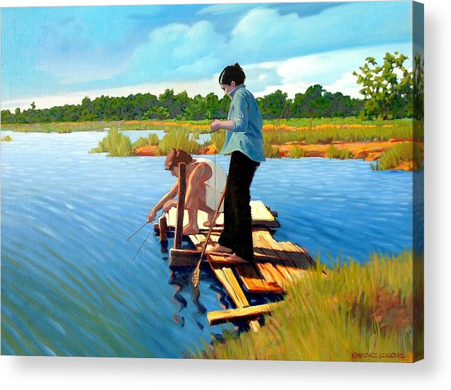 Water Acrylic Print featuring the painting Bring The Bucket by Kevin Lawrence Leveque