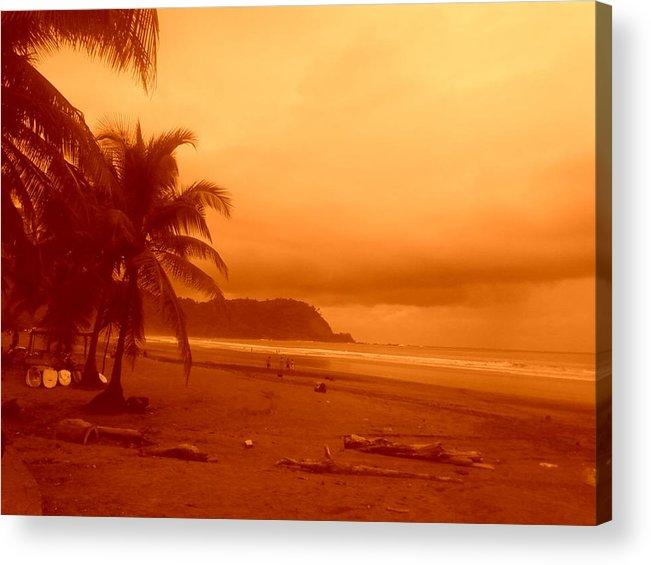 Jaco Beach Costa Rica Acrylic Print featuring the photograph Jaco Beach Costa Rica by Robert Cunningham