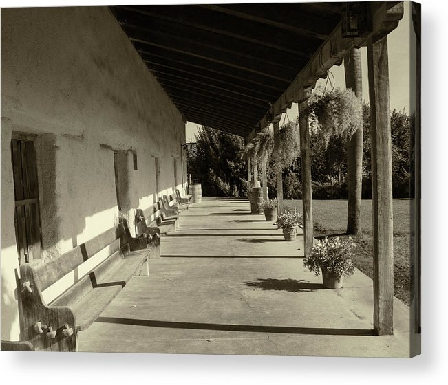 Acrylic Print featuring the photograph Mission Soledad by Danny Chavez Sr