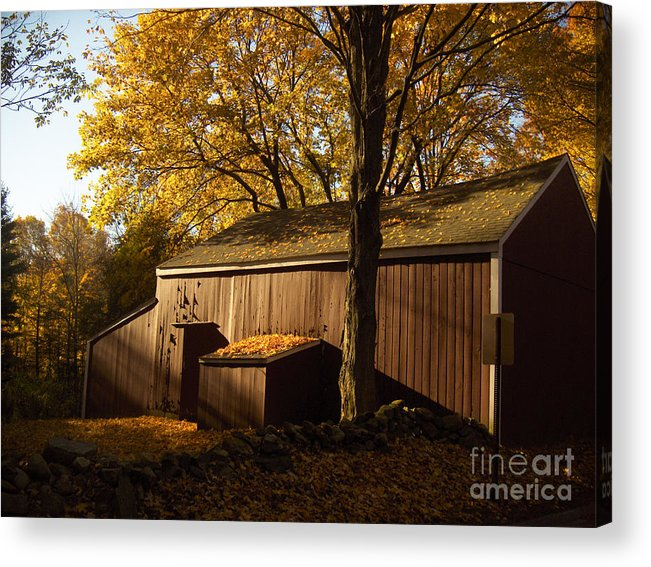 Barn Acrylic Print featuring the photograph Red Barn At Dawn by Joshua Francia