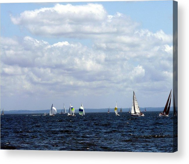 Sailboat Acrylic Print featuring the photograph Sailing by Kendall Eutemey