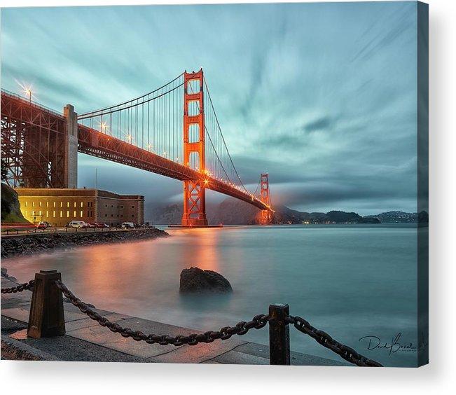 Golden Gate Bridge Acrylic Print featuring the photograph South Tower by David Bernal