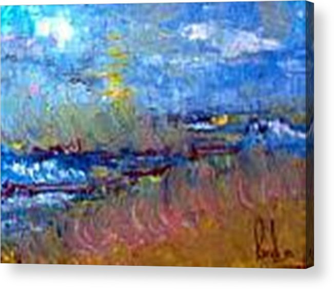 Acrylic Print featuring the painting The Sea by Carol P Kingsley