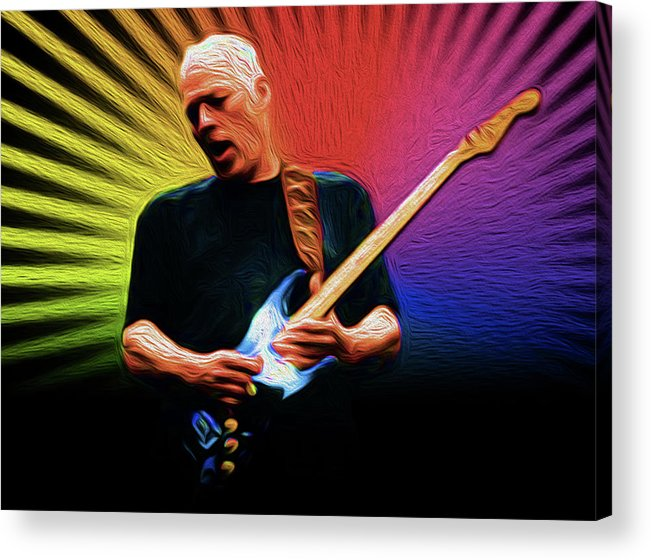 David Gilmour Pink Floyd Music Singer Rock & Roll Copyright � 2016 Nixo. All Rights Reserved.nicholas Nixo Efthimiou Nixo Tote Bag Pouches Portable Battery Charges Towels Beach Towels Bath Towels Round Beach Towels T-shirt Phone Cases Duvet Covers Shower Curtains Throw Pillow Greeting Cards Acrylic Print featuring the painting Gilmour Nixo by Never Say Never