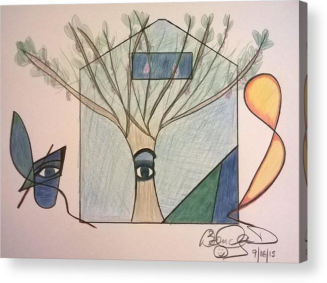 Acrylic Print featuring the drawing Masterpiece Collection by Brenda Basham Dothage