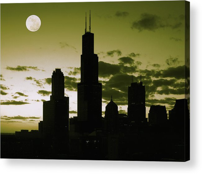 Chicago Acrylic Print featuring the photograph Chicago by Artistic Panda