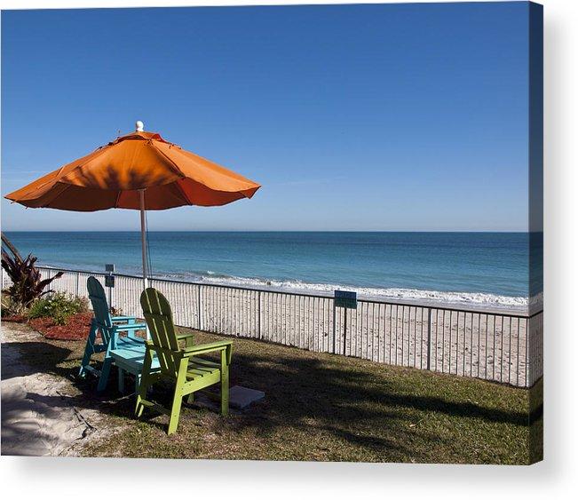 Florida Acrylic Print featuring the photograph Beachland Boulevard At Vero Beach In Florida by Allan Hughes