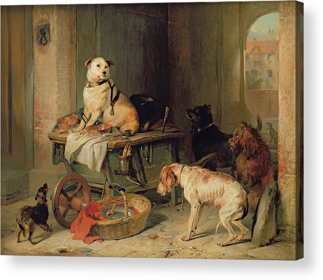 Jack Acrylic Print featuring the painting A Jack In Office by Sir Edwin Landseer