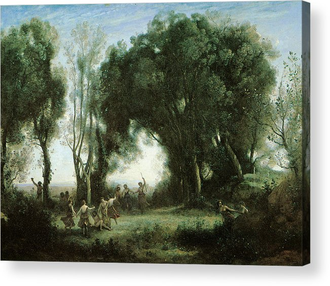 Camille Carot Acrylic Print featuring the painting A Morning Dance Of The Nymphs by Camille Corot