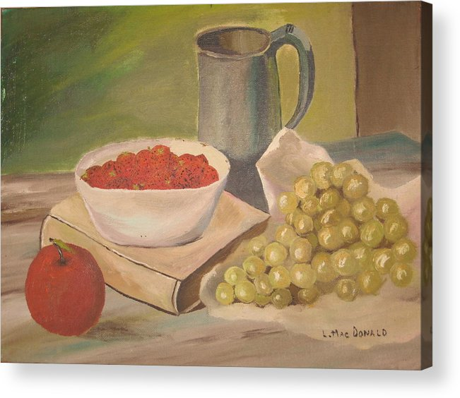 Still Life Acrylic Print featuring the painting A Still Life by L A Raven
