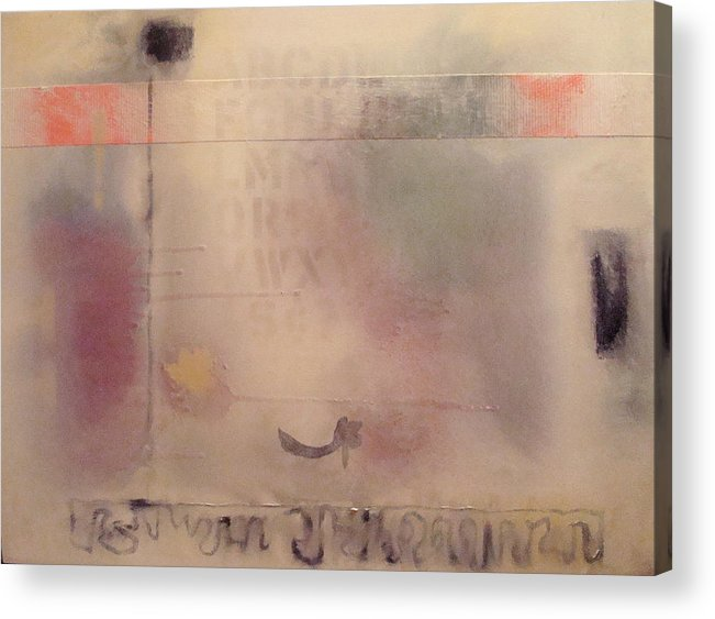 Abstract Acrylic Print featuring the painting A Thought Of Stillness by W Todd Durrance