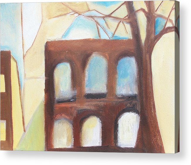 Abstract Acrylic Print featuring the painting Abandoned by Ron Erickson