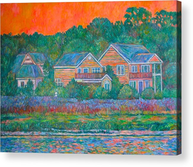 Landscape Acrylic Print featuring the painting Across The Marsh At Pawleys Island    by Kendall Kessler