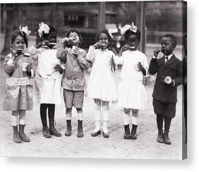 History Acrylic Print featuring the photograph African American First Graders Learn by Everett