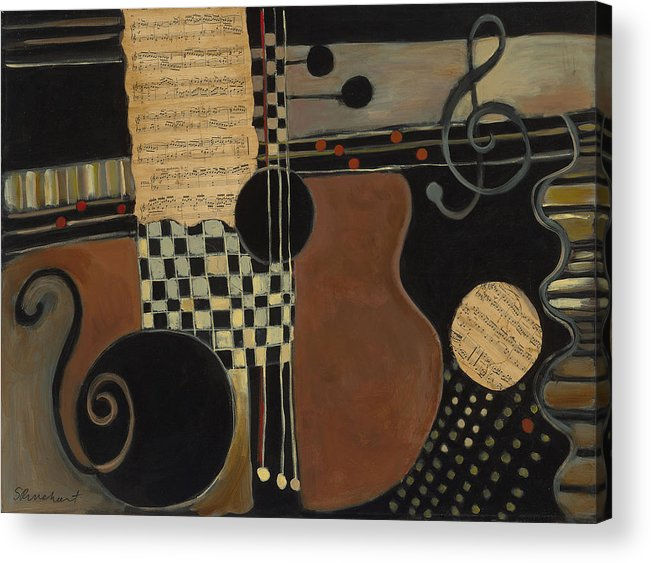 Music Acrylic Print featuring the painting Allegro Moderato by Susan Rinehart