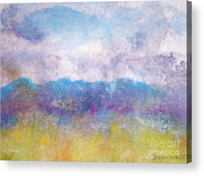 Abstract Acrylic Print featuring the painting Arizona Impressions by Jan Bennicoff
