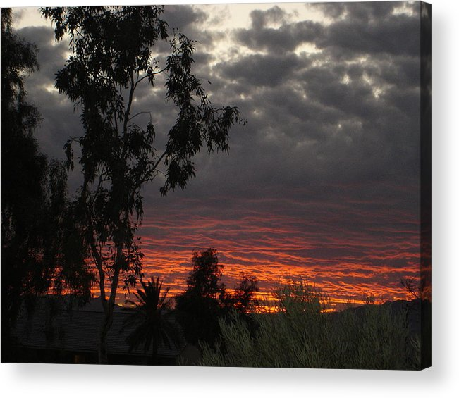 Landscape Acrylic Print featuring the photograph Arizona Sunset II by Lessandra Grimley