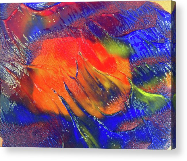Colors Acrylic Print featuring the painting Art 0a by Leigh Odom