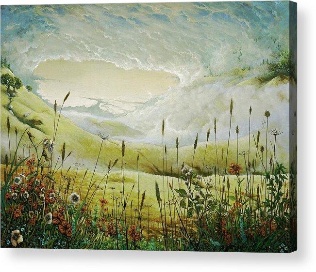 Clouds Acrylic Print featuring the print AUM by Boris Koodrin